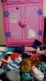 Build a bear girls clother. Wordrob sofa bed shoes and Liverpool outfit