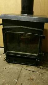 WOOD WARM PRESTIGE, WOOD BURNING FIRE WITH WATER BOILER ON BACK