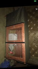 RABBIT HUTCH COVER GOOD CONDITION USED ONCE.