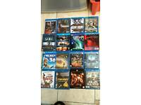 Large selection of blu rays (including new & several 3D titles) for sale