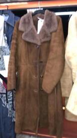 Long sheepskin coat ladies / women's 8 - 10