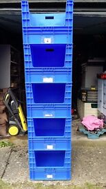 5 x 100 Litre Heavy Duty Storage Boxes in Very Good Condition.