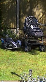 SilverCross Freeway Pushchair/Carseat/Carrycot