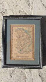 Lincolnshire Antique Map Published By James Wallis/C Hinton Circa 1800