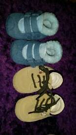 Baby booties 6-9 months and 12 months. USED.