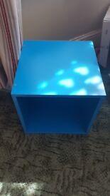 Blue cube storage boxes x2