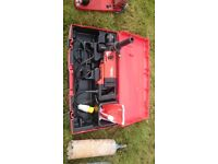 Hilti DD-130 Drilling Rig + Water supply + wet and dry core sets