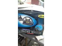 Genuine 1998 racing wheel and pedals for playstation