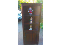 Oak Corner Display Cupboard in Excellent Condition Free Delivery May Be Possible in Stoke-on-Trent