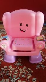 Fisher Price laugh and learn smart stage musical chair pink
