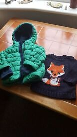Mothercare winter coat and jumper