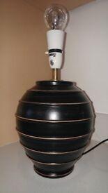 Black Beige Ceramic Table lamp light
