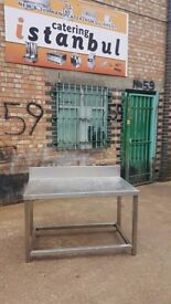 STAINLESS STEEL TABLE WORK TOP 1.20CM GRILL TABLE