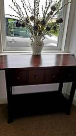 Hallway table with large drawer.