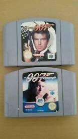 Nintendo 64 007 game cartridges