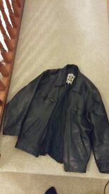 Small, brand new men's leather jacket