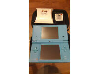 Nintendo dsi Turquoise with flash card