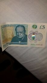5 pound note aa01 collectors item