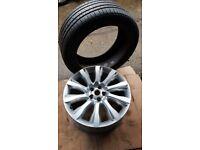 """1x 21"""" Range Rover Land Rover Land Rover CK52-1007-EA alloy wheel 275/45R21 tyre"""