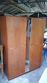 Wardrobe - Wooden with Mirror.