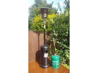Gas patio heater + full gas bottle