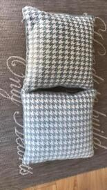 New duck egg blue cushions