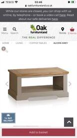 Solid OAK long coffee table