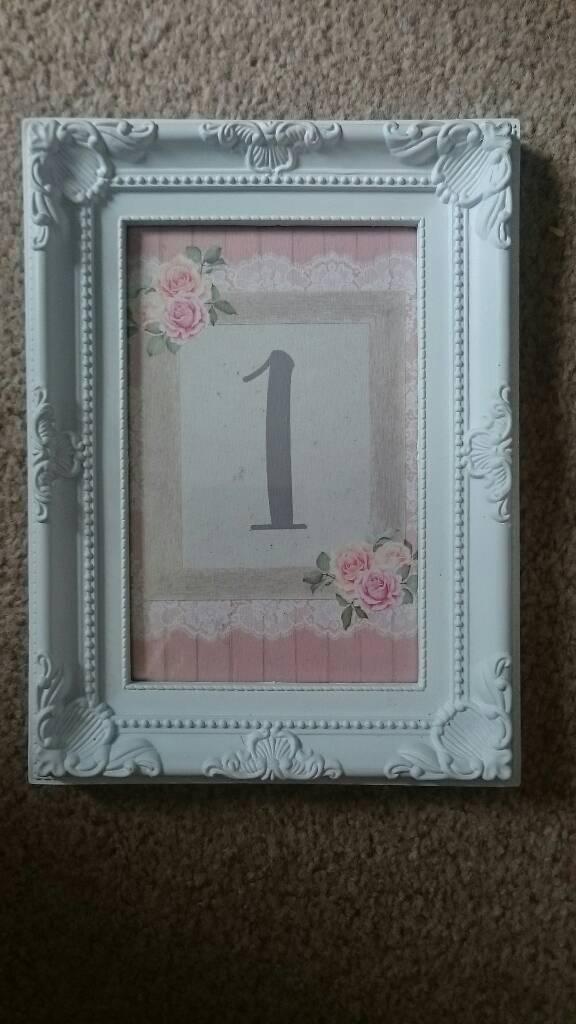 Wedding Table Number Frames In Norwich Norfolk Gumtree