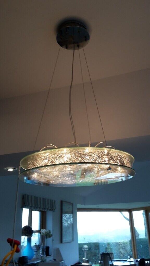 Italian Halogen Pendant Light Fitting In Pontypool Torfaen Gumtree