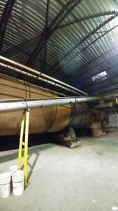 Heil 12' x 52' Natural Gas Single Pass Rotary Drum Dryer