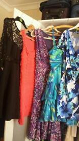 bundle of five dresses size 10
