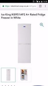 Ice King Fridge Freezer (White) brand new