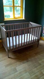 cot bed and matress (ikea)