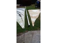Sailing Dingy Aluminium Mast with sails Please see photos