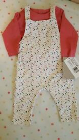 Mamas & Papas dungaree set 0-3 BNWT