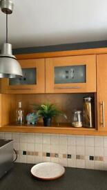 Kitchen cupboard and shelving