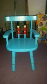 Boys Blue Wooden Chair