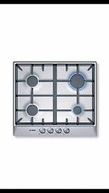 Brand new BNIB Bosch 4 burner cast iron and stainless steel gas hob