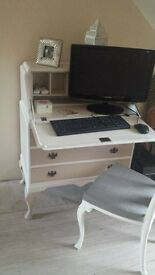 shabby chic cream desk