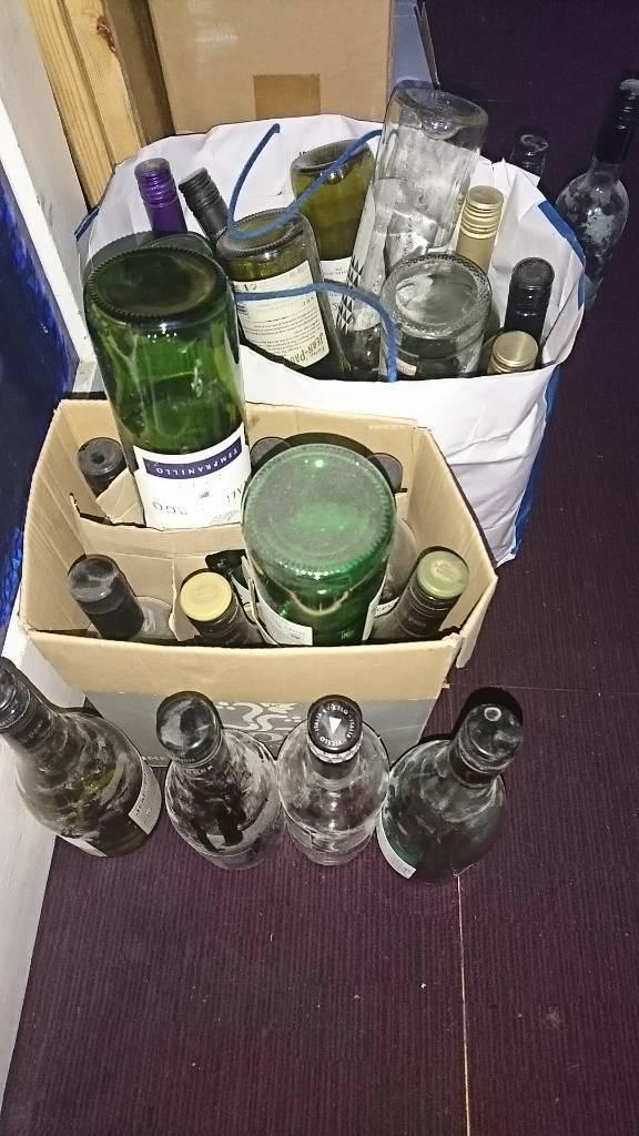 30+ empty wine bottles home brew