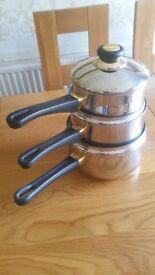 3 piece saucepan set
