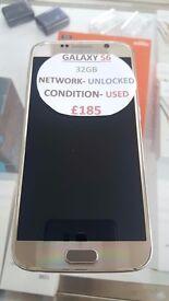 GALAXY S6 32GB UNLOCKED GOOD CONDITION WITH WARRANTY