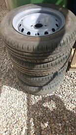 Steel wheels with new tyres 185 65 r14