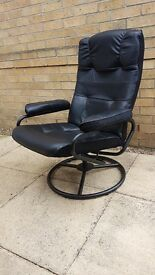 Swivel Reclining Leather Chair