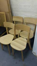 4 Wooden Chairs £50