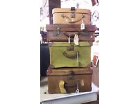 A collection of vintage hand luggage