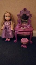 Rupunzel doll and dressing table
