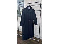 Ladies grey wool long coat - size 16
