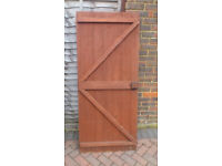 Wooden Shed Door, with hinges & lock