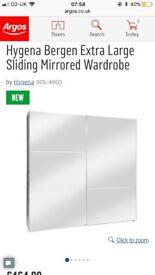 Hygina large mirrored wardrobe